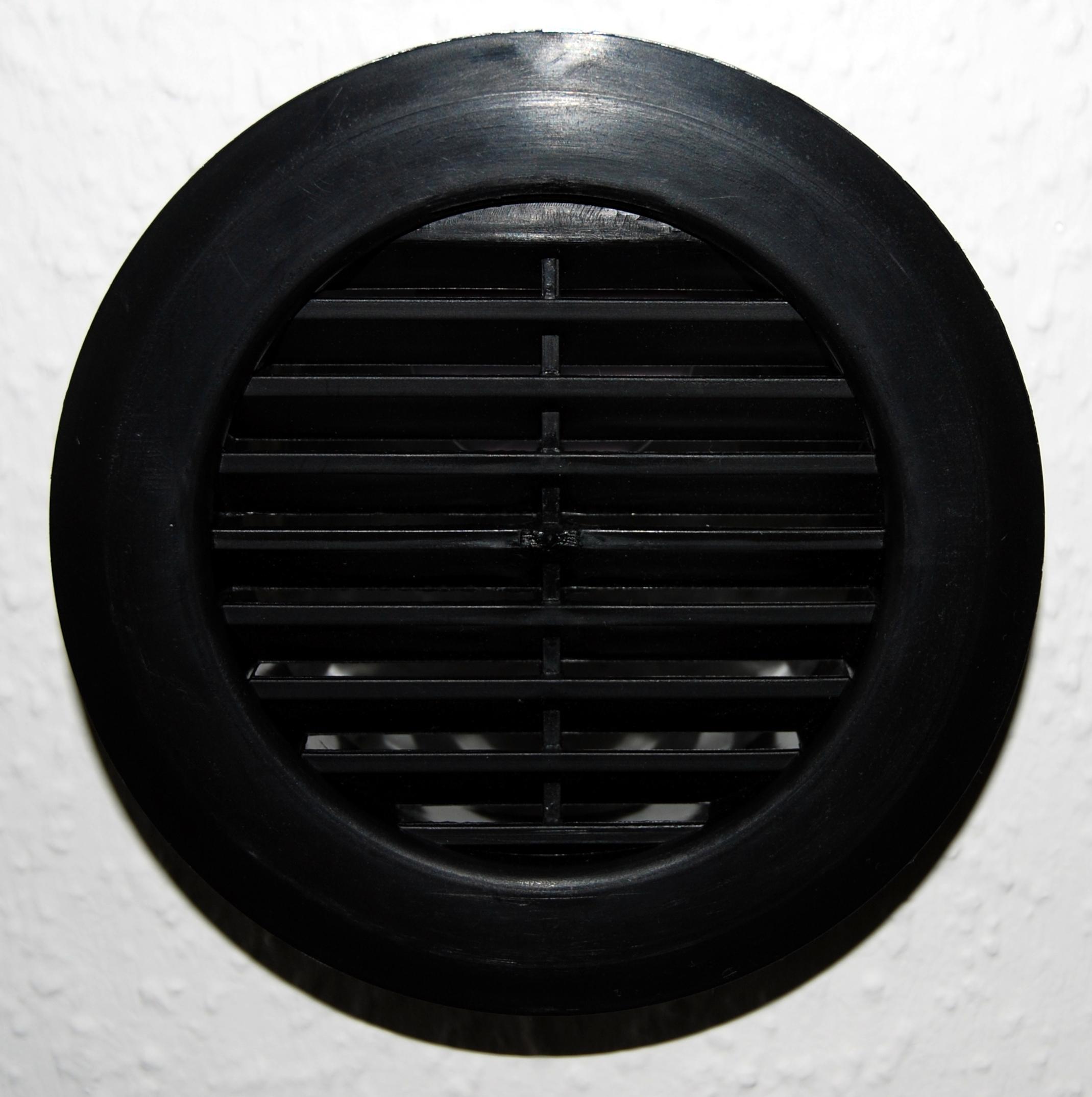 Lüftungsgitter rund, schwarz